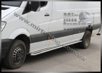 Пороги труба с листом d-42mm для Mercedes Benz Sprinter 2013 и выше нержавейка 2mm