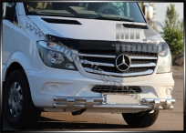 Фирменный ус d-60\60mm для Mercedes Benz Sprinter 2013+ нержавейка 2mm